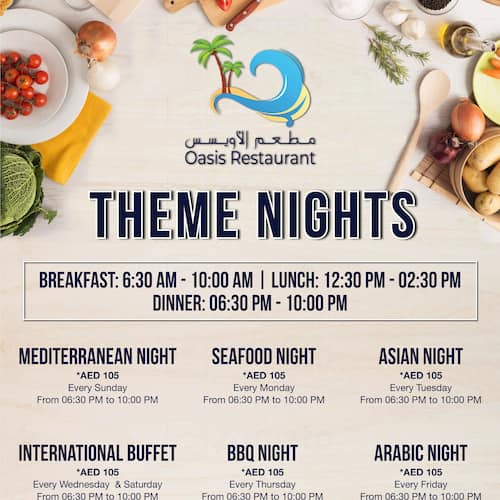 Oasis Restaurant - Bin Majid Beach Resort Menu - Zomato