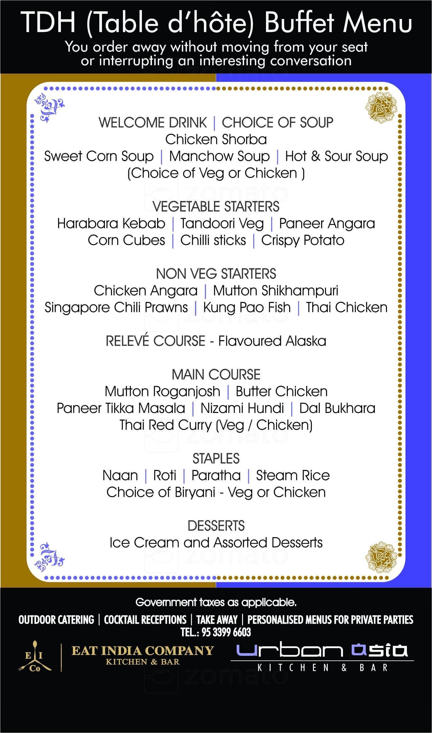 urban asia kitchen bar gachibowli menu - Asia Kitchen Menu