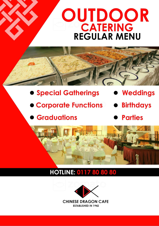 Chinese Dragon Cafe Sri Lanka Menu