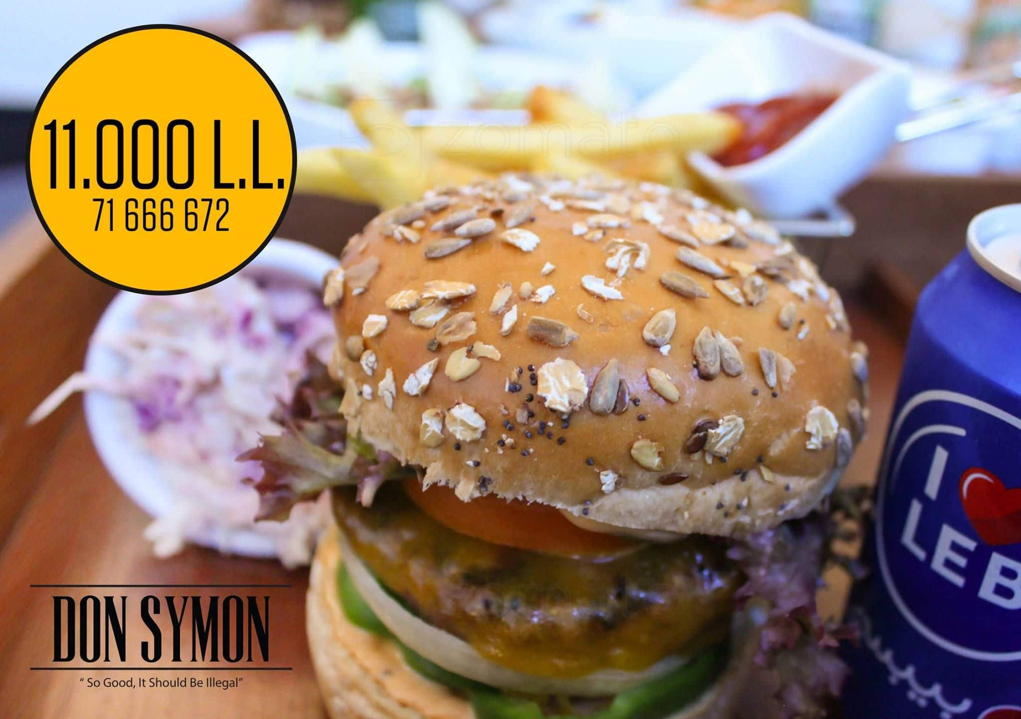 don symon kitchen pub menu zomato lebanon