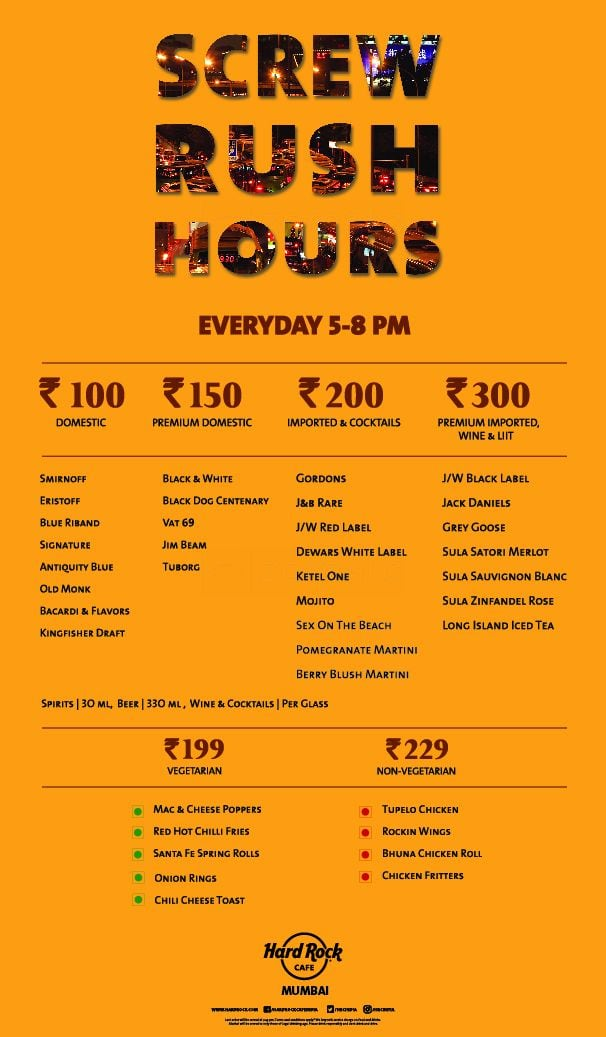 Hard Rock Cafe Menu Zomato