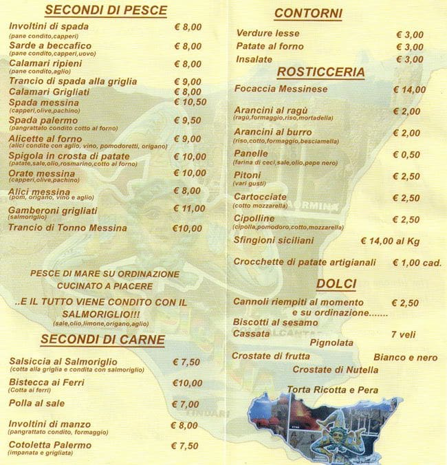 Trattoria Italian Kitchen Menu
