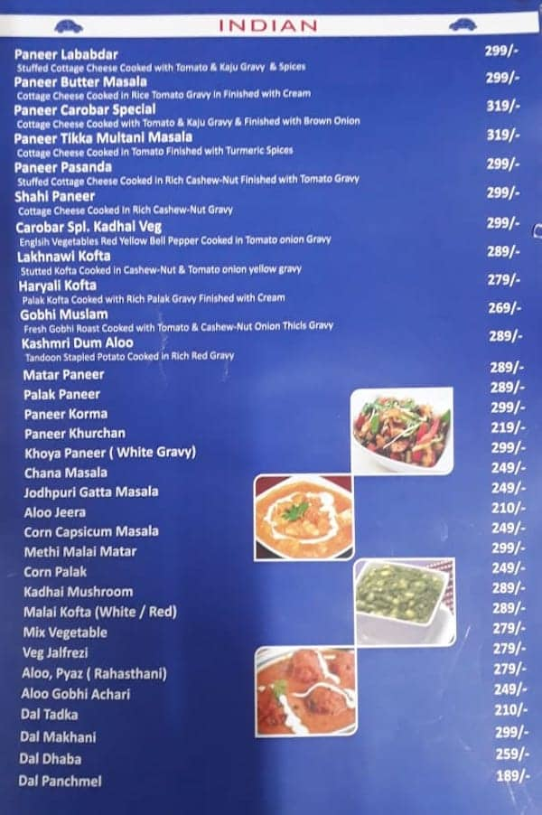 mini india menu menu for mini india shyam nagar jaipur zomato