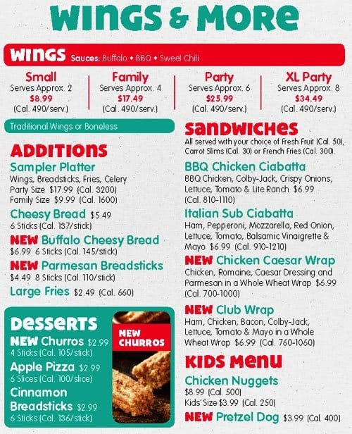 Chuck E Cheeses Menu Menu for Chuck E Cheeses Pineville