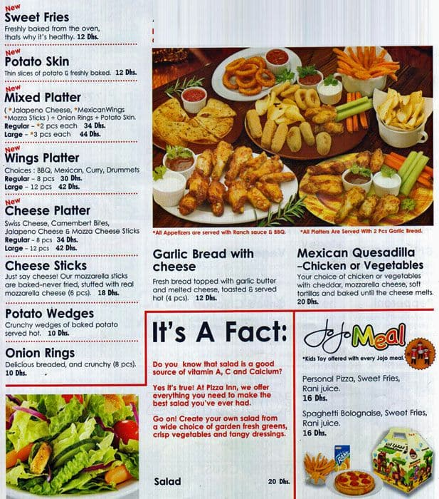 pizza inn menu menu for pizza inn dafan al khor ras al khaimah rh zomato com pizza inn buffet prices enid ok pizza inn buffet prices