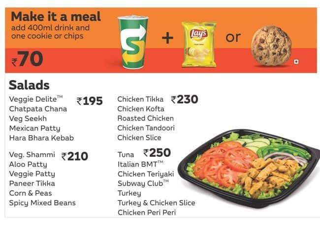 Subway Menu, Menu for Subway, Saibaba Colony, Coimbatore - Zomato