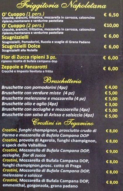 Pizza Napoletana Drink Menu