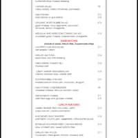 scanned menu for commerce kitchen - Commerce Kitchen