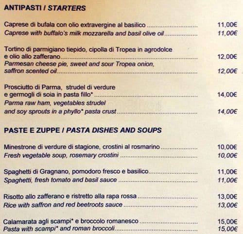 Nh hotels restaurant a milano foto del menu con prezzi for Ristorante amo venezia prezzi