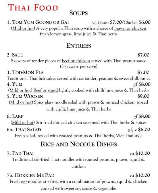 Menu At Viet Thai Restaurant Brooklyn Park
