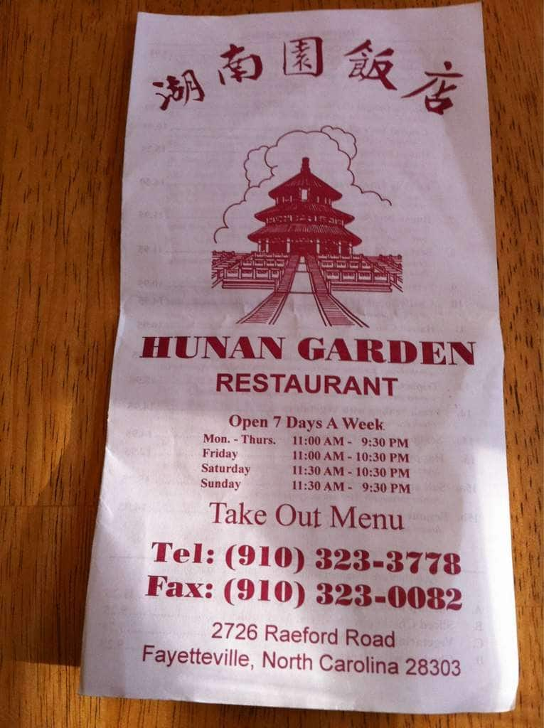 Hunan Garden Chinese Restaurant Fayetteville Nc