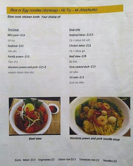 Viet Kitchen Menu Menu For Viet Kitchen Footscray Melbourne