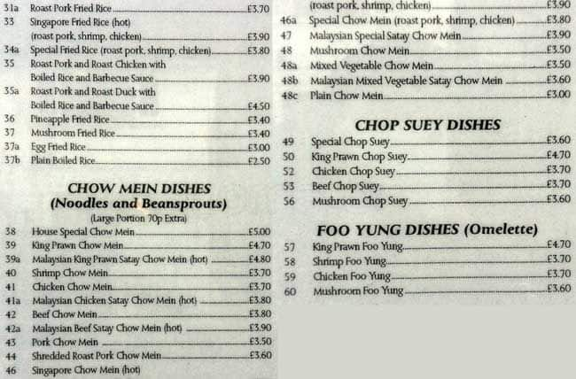 Menu At Ming Garden Fast Food Buckhurst Hill