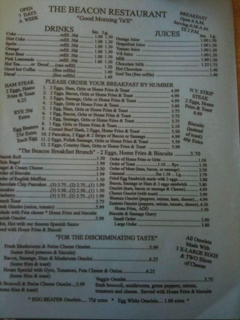 New Smyrna Beach Restaurants Menu Lunch