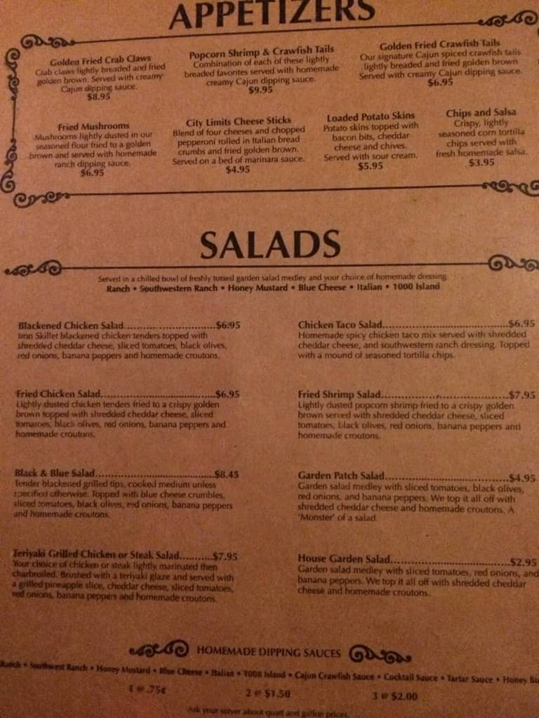 City Limits Menu, Menu for City Limits, Philadelphia, Philadelphia ...