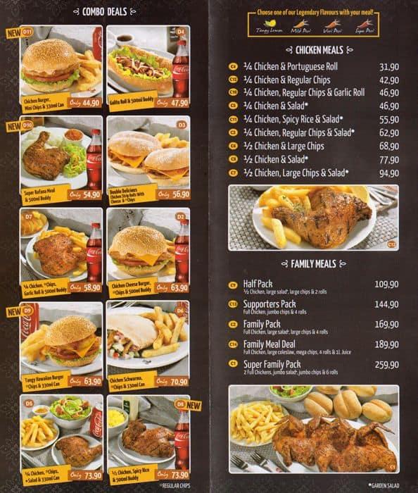 Barcelos menu menu for barcelos bloemfontein for African cuisine menu