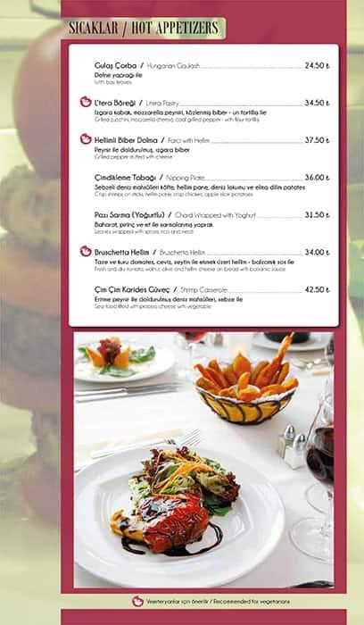 Menu At Litera Restaurant Istanbul