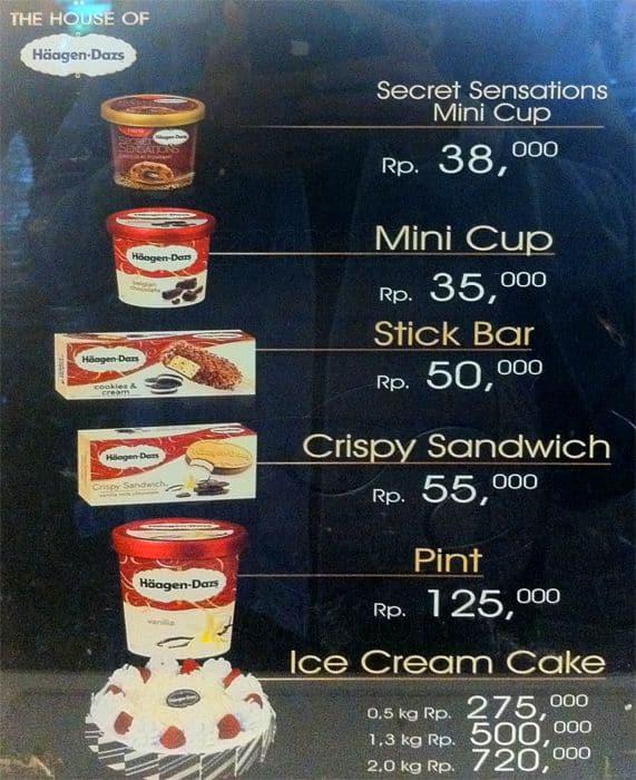Menu Ice Cream Cake Haagen Dazs Indonesia