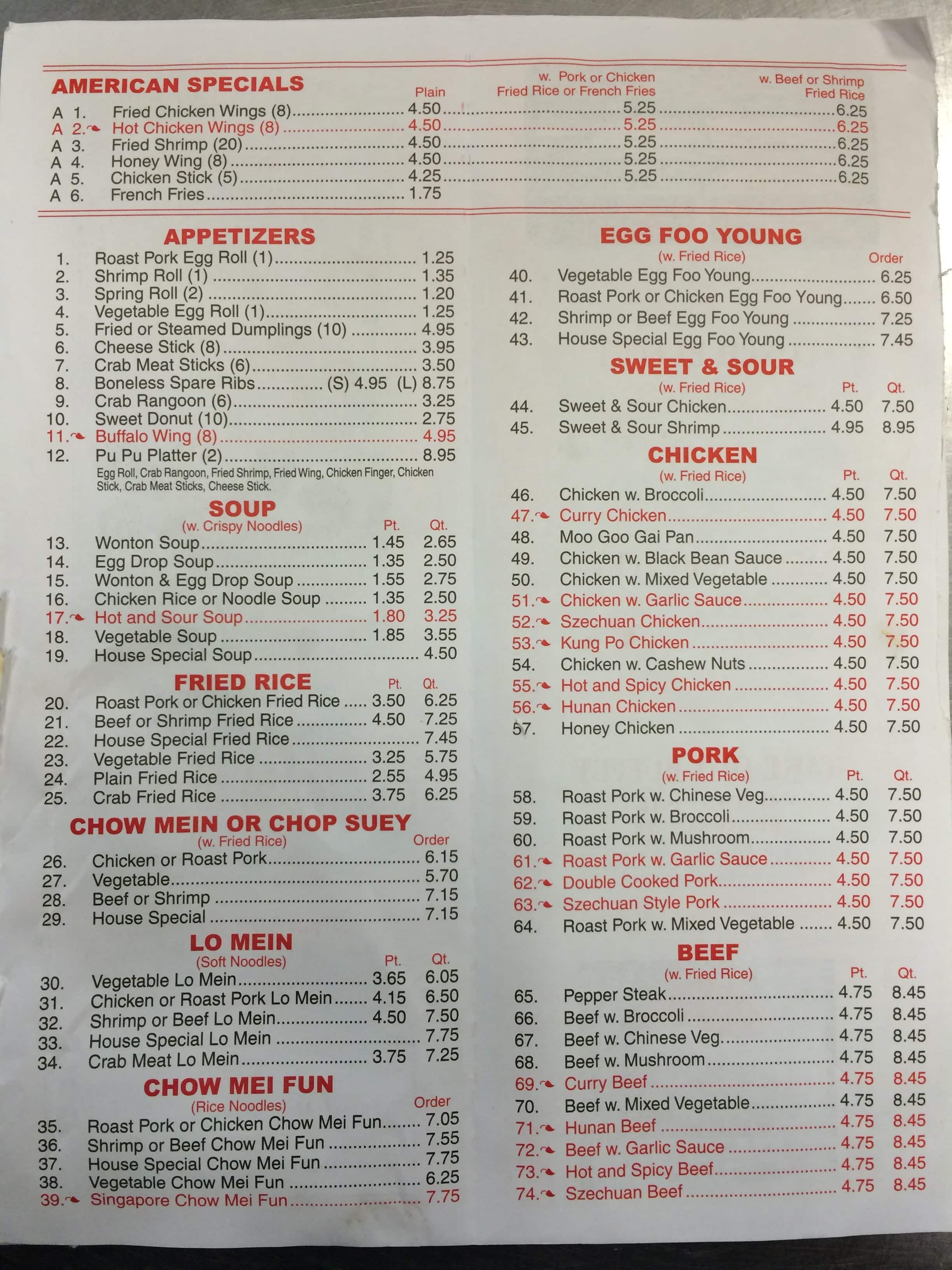 menu at panda buffet restaurant amory rh restaurantguru com panda buffet menu willoughby ohio panda buffet menu zephyrhills