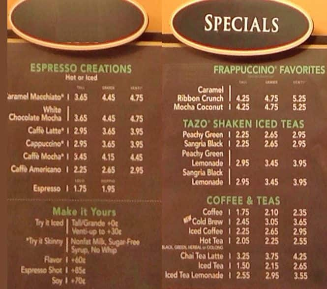 Barnes & Noble Cafe menu, Menu restauracji Barnes & Noble ...