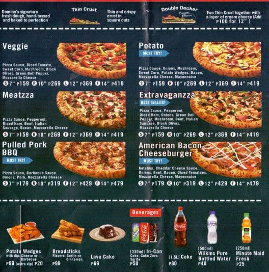 pizza prices at dominos