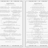 Scanned Menu For The Cheesecake Factory