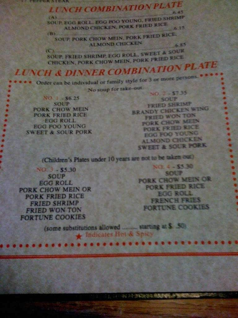 Canton Palace Chinese Food Home Delivery Menu