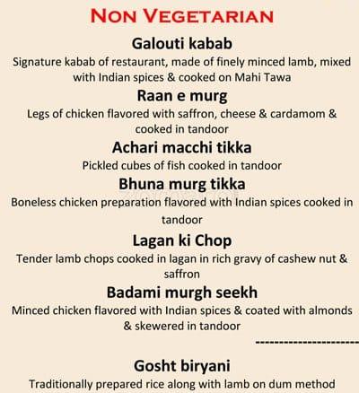 Radisson Blu Noida Restaurant Menu