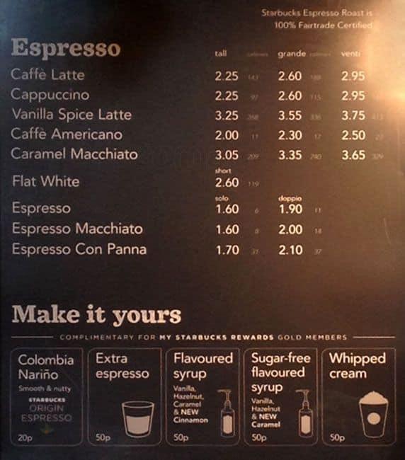 Starbucks menu 2015 philippines
