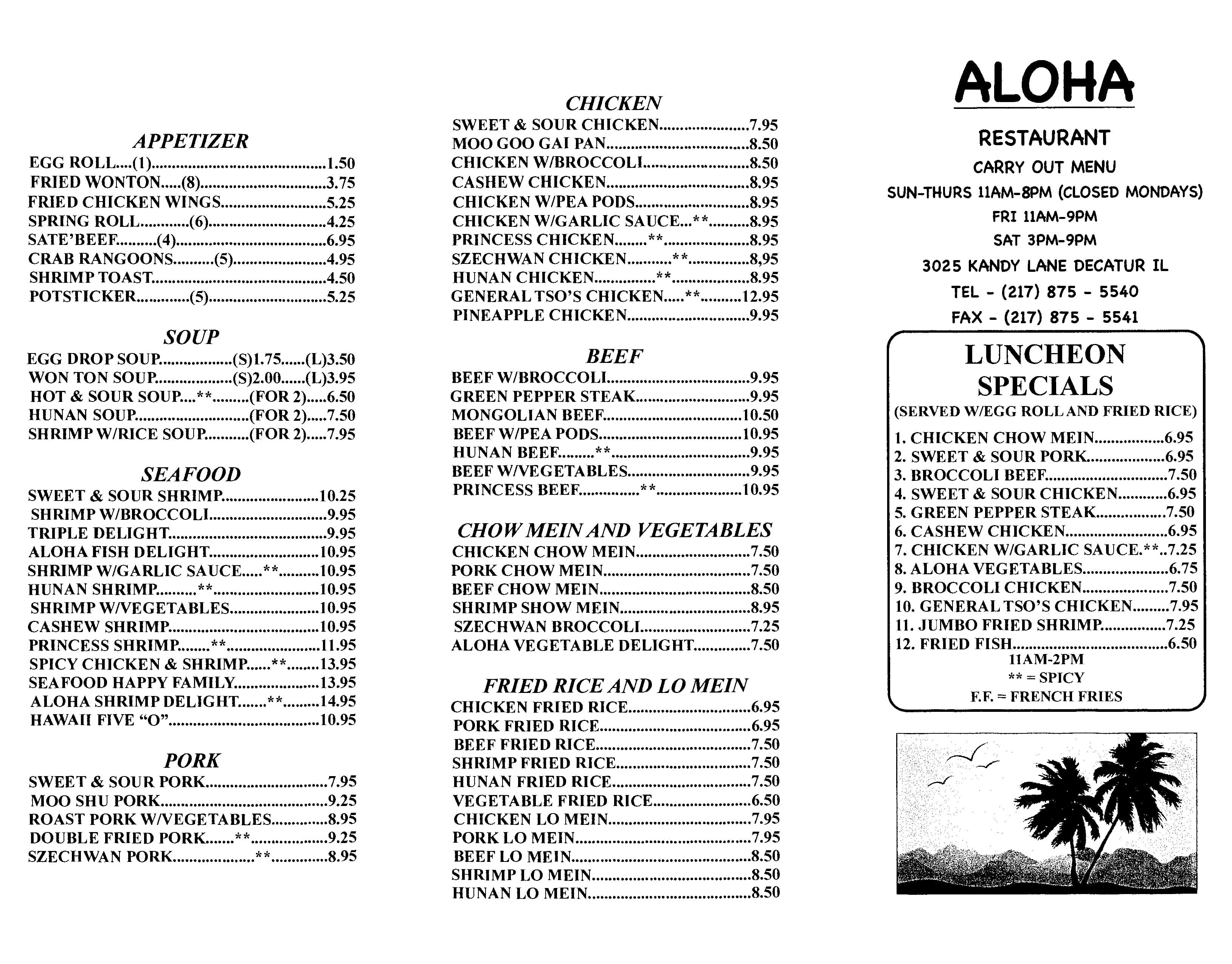 Aloha Kitchen Waikiki Gallery