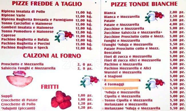 Fiori 4 Stagioni.Pizza In Piazza Menu Menu For Pizza In Piazza Centocelle Roma