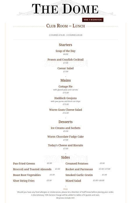 British Tea Room Menu