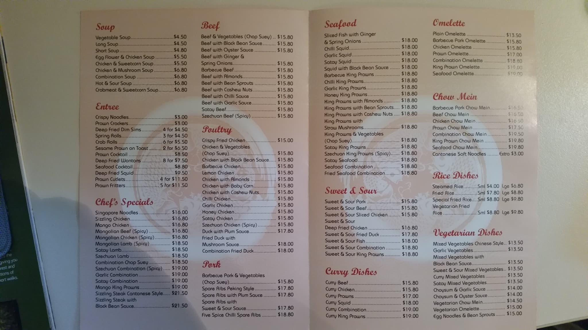 Dunsborough Chinese Restaurant Dunsborough Wa