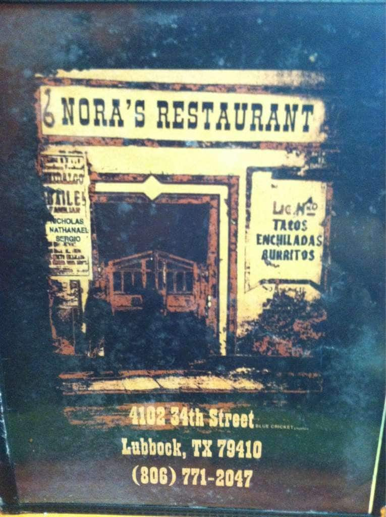 Nora S Restaurant Lubbock Menu