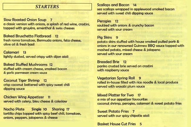 black dog menu