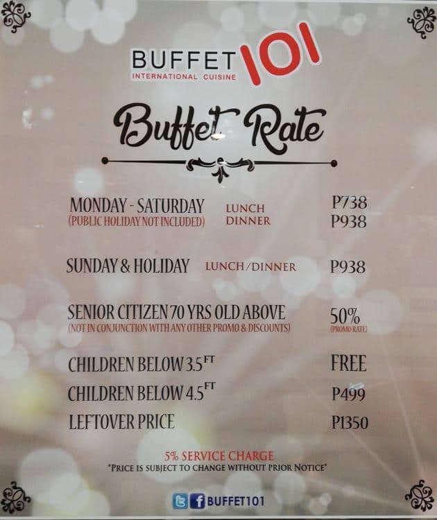 More Information About Buffet-101 & Buffet-101 Vouchers & Coupons