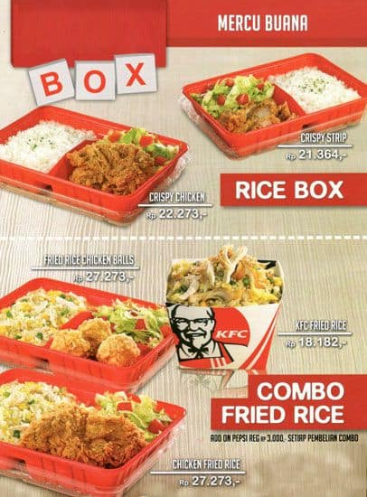 KFC Box Menu, Menu for KFC Box, Manggarai, Jakarta ...