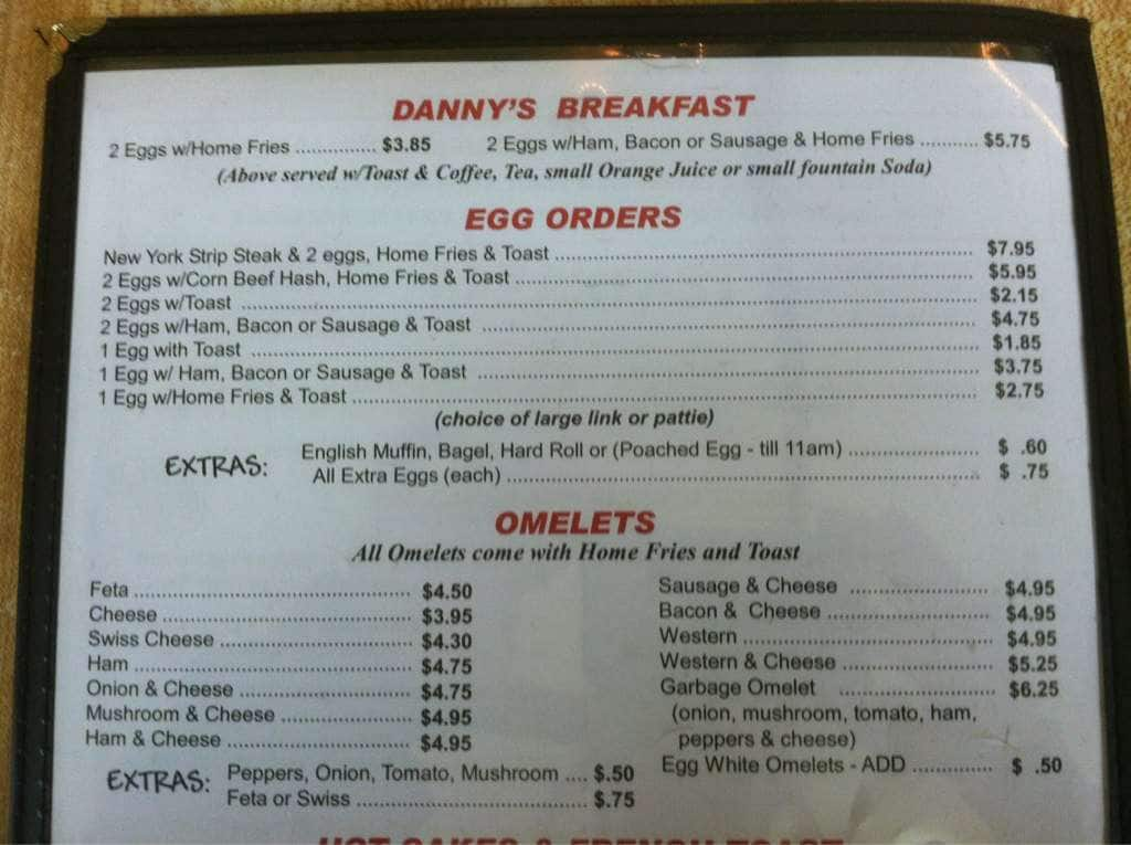 Dannys Diner Menu Menu For Dannys Diner Binghamton Binghamton