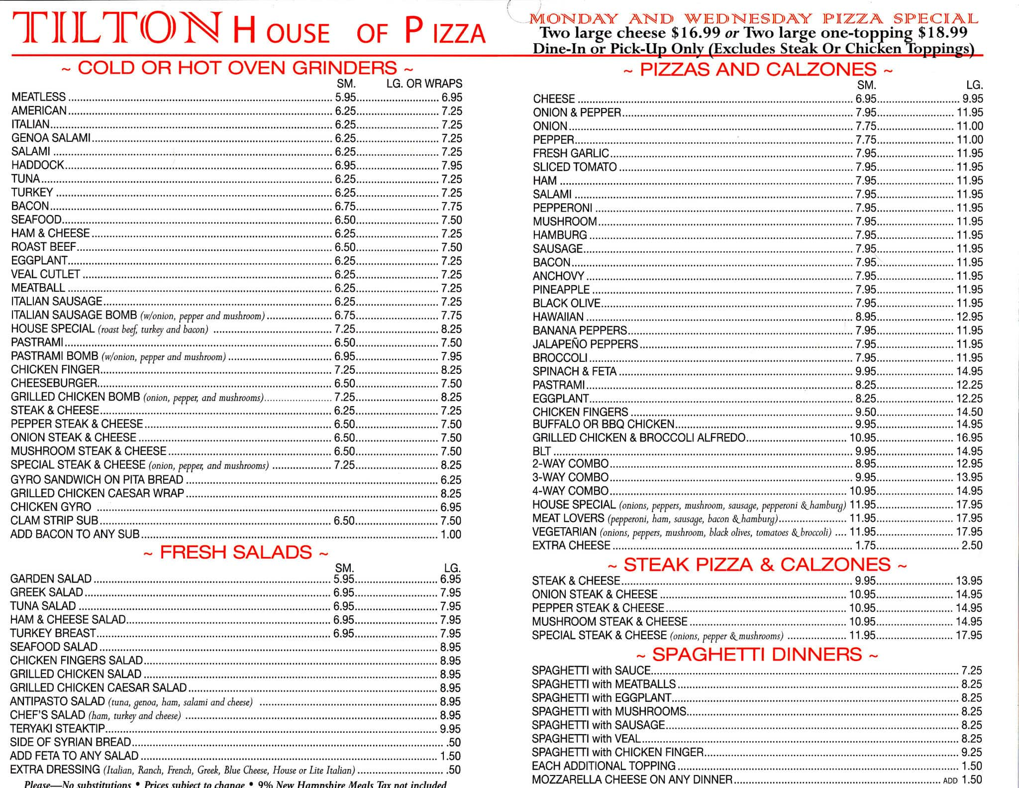 Awesome Tilton House Of Pizza
