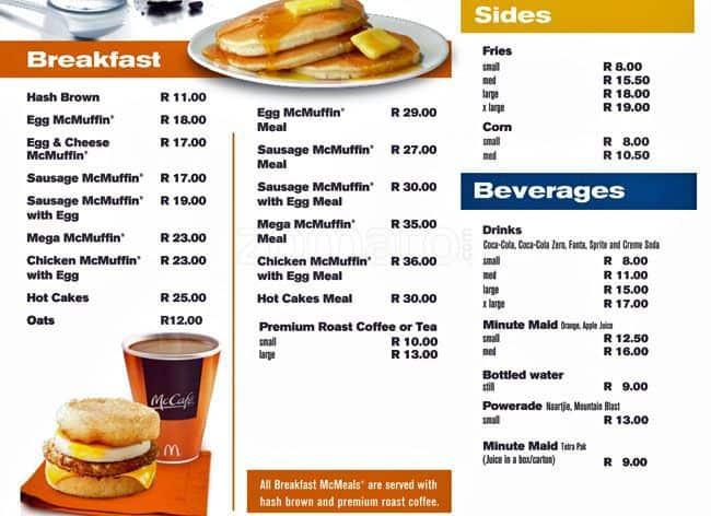 Africa Cafe Cape Town Menu Price