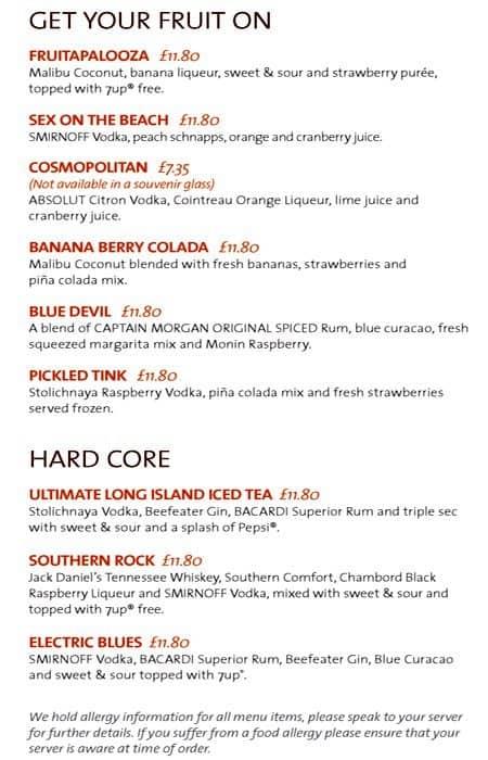 Hard Rock Cafe Electric Blue Drink