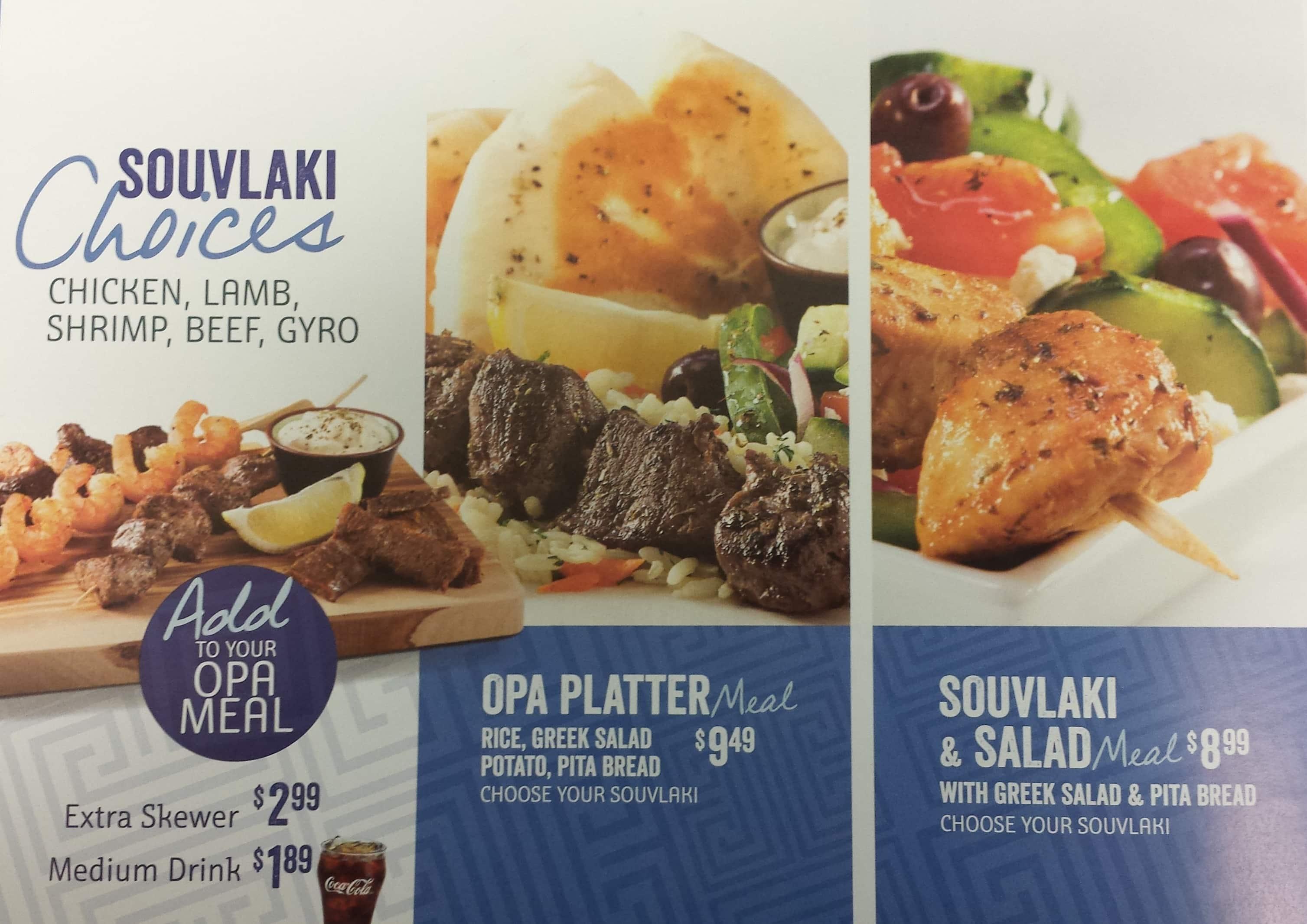 Opa souvlaki of greece menu menu for opa souvlaki of greece u of souvlaki of greece u of c menu forumfinder Images