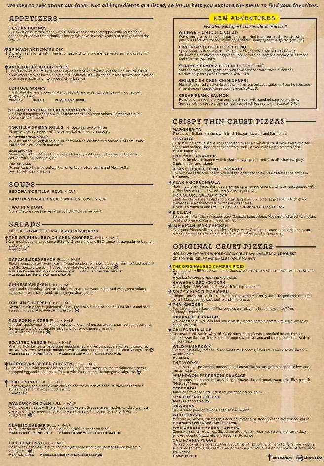 California Pizza Kitchen Menu Menu For California Pizza Kitchen Airport Mia Miami