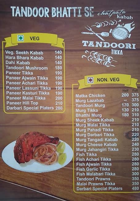 Tandoor Point Menu Menu For Tandoor Point Gorwa Vadodara
