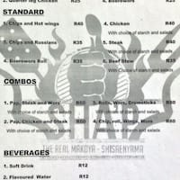 Scanned Menu For Sha039p