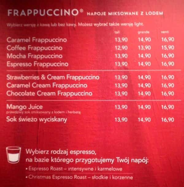 Starbucks Drink Guide Terms