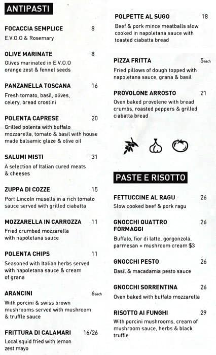 Antica pizzeria e cucina menu menu for antica pizzeria e for Menu cucina