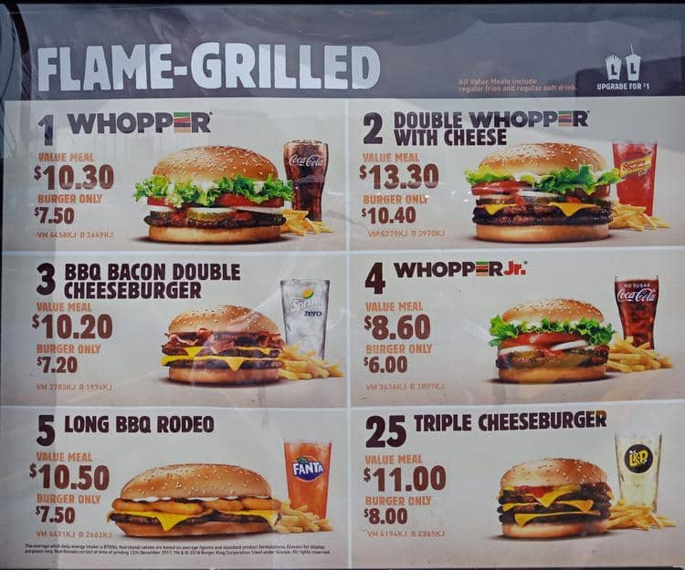 Menus Burgers Burger King Carte.Burger King Menu Menu For Burger King Rosedale Auckland