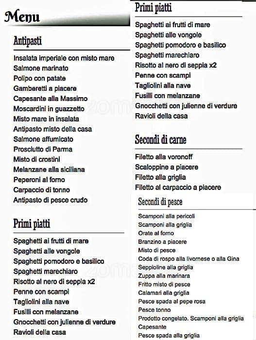 Ristorante Consolare A Milano Foto Del Menu Con Prezzi Zomato Italia