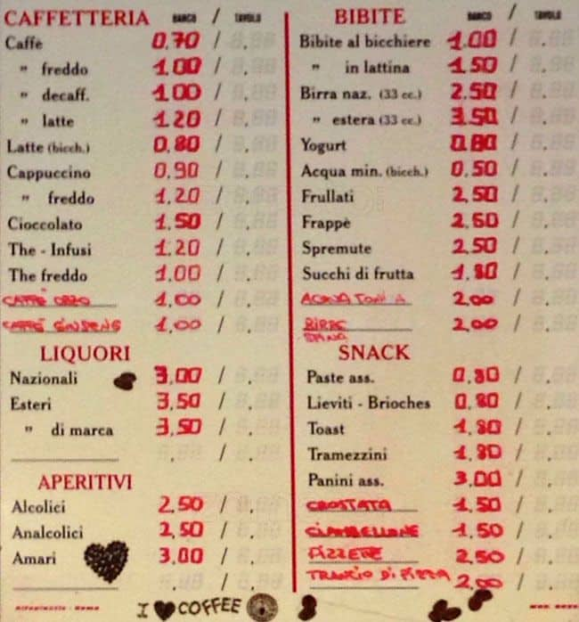Molto Bar Caffè Negresco Menu - Zomato Italy KH89